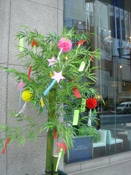 銀座の笹飾り