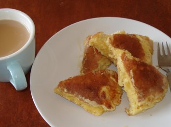 ホットケーキとメープルシロップ